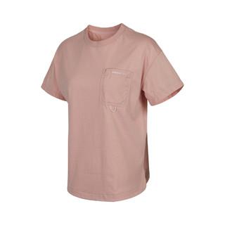adidas 阿迪达斯 NEO夏季新款时尚女子针织T恤短袖圆领上衣运动训练服休闲女装