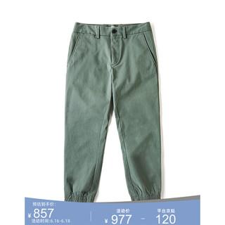 LACOSTE 拉科斯特 法国鳄鱼男装春夏时尚透气直筒复古九分裤休闲裤男HH5943 S86/灰绿色 40