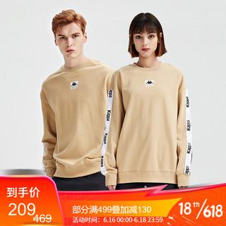 Kappa 卡帕 串标套头衫2021新款情侣男女运动卫衣休闲圆领外套长袖上衣K0BW2WT50D 美丽驼-6306 XL