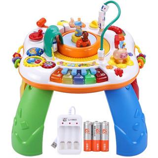 GOODWAY 谷雨 游戏桌多功能学习桌儿童玩具婴儿玩具男孩女孩早教机新生儿幼儿宝宝婴幼儿礼物 谷雨游戏桌(配充电器&电池)