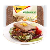 捷森 黑麦全麦面包 500g