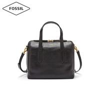 FOSSIL Fossil女包 复古牛皮拉链手提大气单肩斜挎包波士顿包