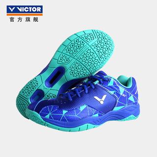 VICTOR 威克多 羽毛球鞋男女款全面类高弹透气止滑运动鞋A362耀眼蓝/水蓝 40码=255mm