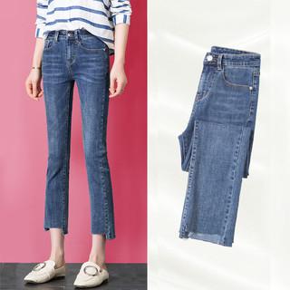 Lee Cooper LCGK8817 女士九分微喇叭牛仔裤