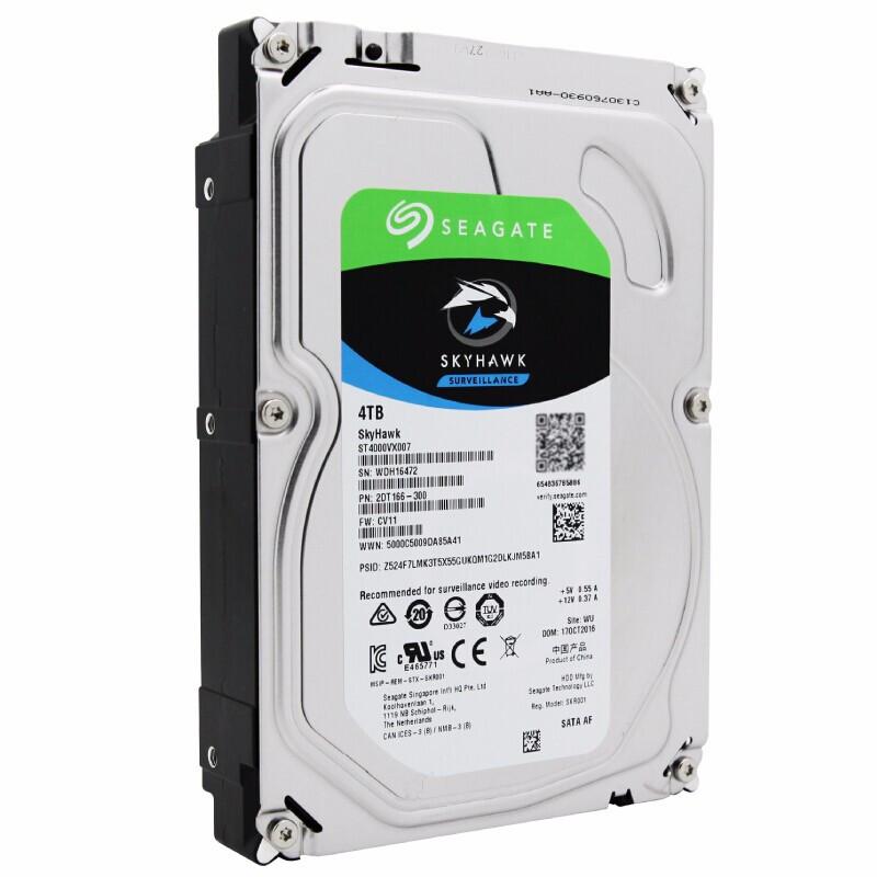 SEAGATE 希捷 酷鹰SkyHawk系列 3.5英寸 监控级硬盘 4TB (5900rpm、PMR、64MB) ST4000VX007