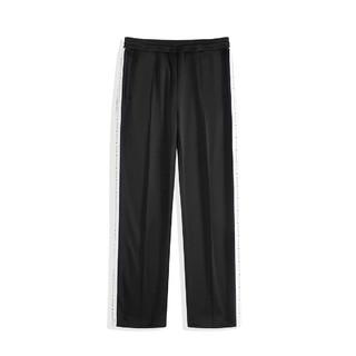 PEACEBIRD 太平鸟 男装春季裤子男士裤脚拉链侧边织带休闲运动裤