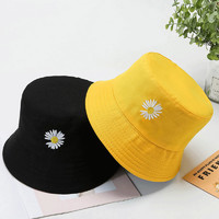 HOCR 渔夫帽 双面可戴小雏菊 黄色+黑