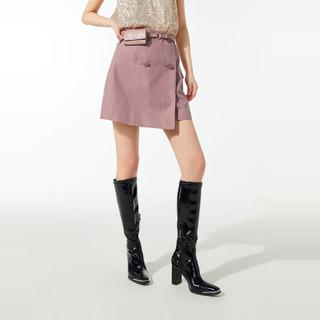 PEACEBIRD 太平鸟 女士时尚2021年春季新款配腰包短裙A1GEA2117