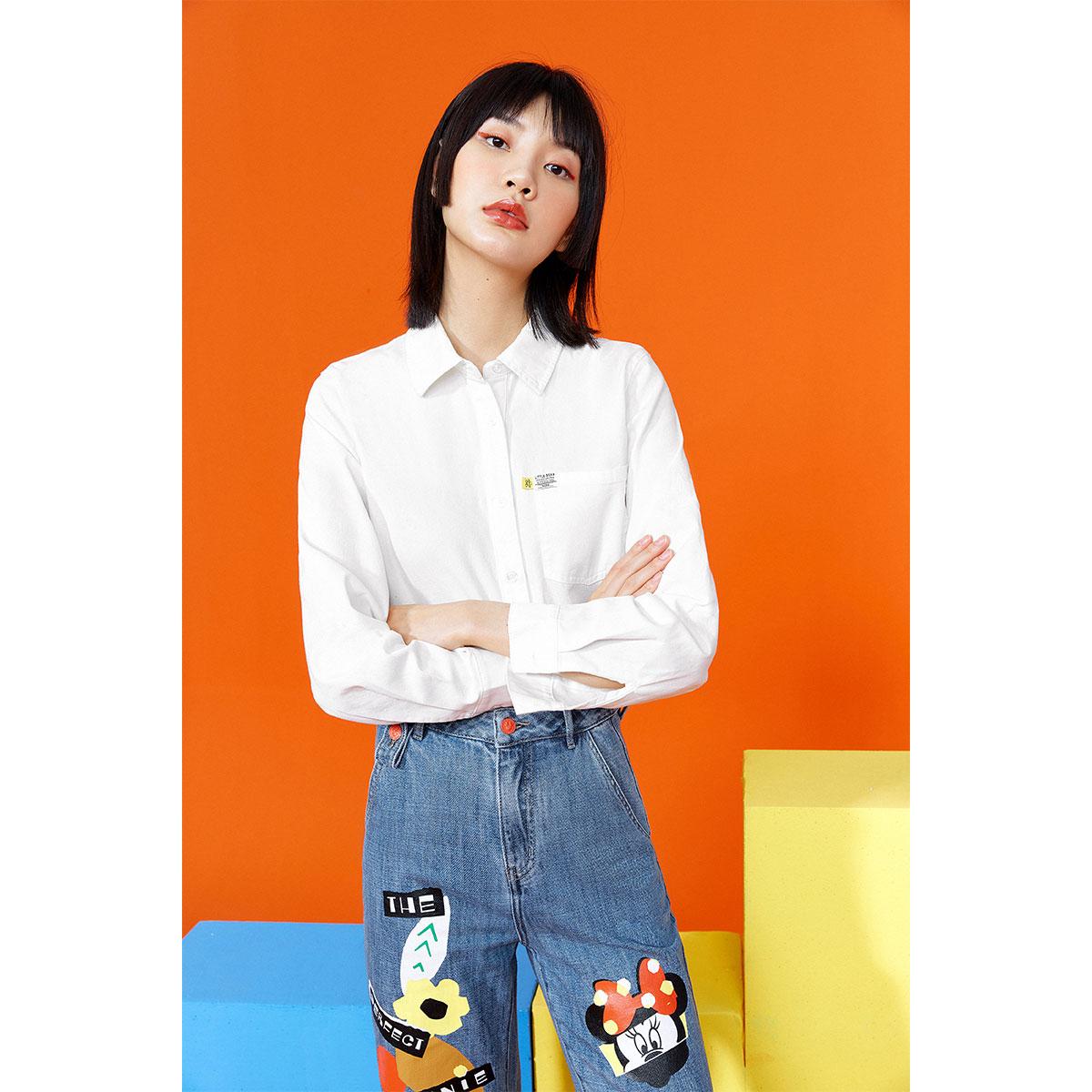 PEACEBIRD 太平鸟 AWCAB2A6081 女士衬衫