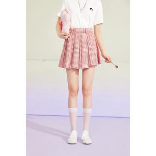 PEACEBIRD 太平鸟 女士时尚2021年夏季新款格纹百褶裙