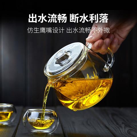 诗米乐 玻璃壶加厚过滤泡茶器套装