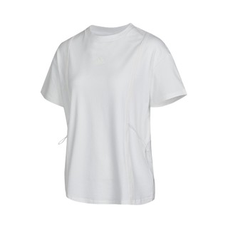 adidas 阿迪达斯 夏季新款阿迪达斯女子T恤圆领短袖跑步训练运动休闲上衣女装