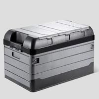 YUECAR 悦卡 折叠车载收纳箱 条纹三盖款 黑灰 大号 70L