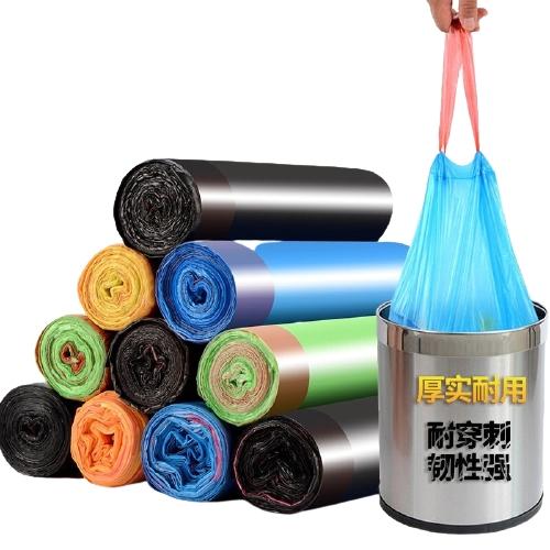 HUWAIGUSHI 户外故事 抽绳自动收口加厚垃圾袋 10卷150只装(45cm*50cm)