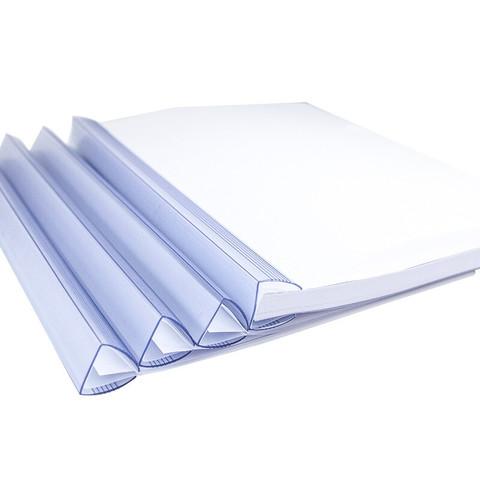 KINARY 金得利 5个装 25mm 加厚大号抽杆夹A4抽拉杆文件夹报告夹透明资料夹简历夹学生试卷整理夹磨砂加厚板片 Q325