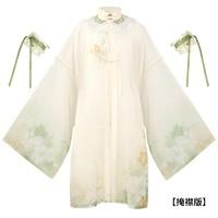 十三余 明制汉服 柠檬百合  对襟立领长衫 SHF122415