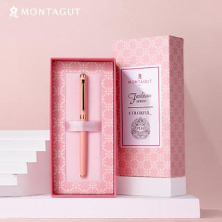 MONTAGUT 梦特娇 法国梦特娇(MONTAGUT)签字笔宝珠黑色水笔礼盒套装金属中性笔520礼物送礼 钟情系列 粉色0.5mm