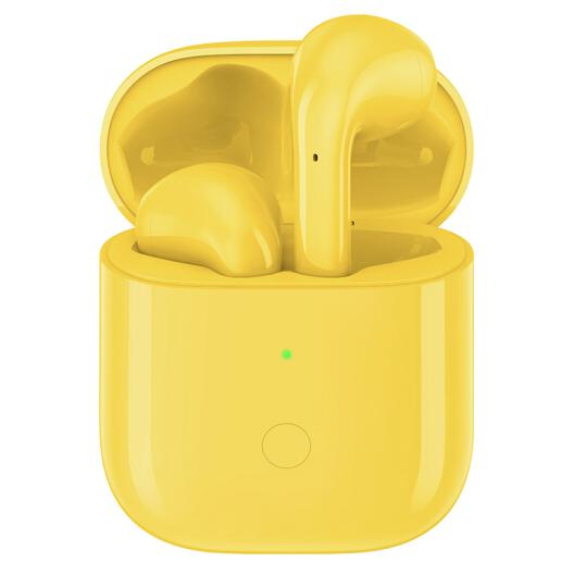 realme 真我 Buds Air 半入耳式真无线降噪蓝牙耳机 黄色