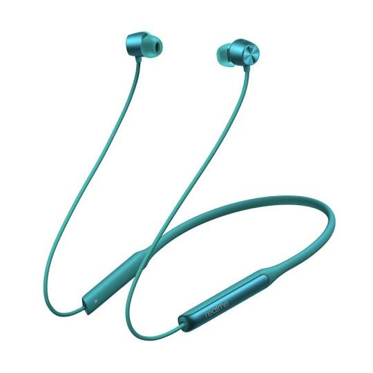 realme 真我 Buds Wireless Pro 入耳式颈挂式主动降噪蓝牙耳机 若草绿