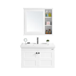 HUIDA 惠达 卫浴实木橡胶木浴室柜组合 美式风洗手盆洗脸盆组合794-80