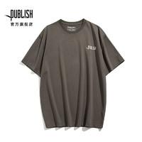 PUBLISH PB20041001 纯色LOGO刺绣宽松工装男士T恤