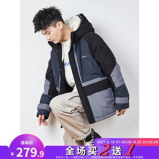 TONLION 唐狮 2020秋冬新款棉衣男拼接工装外套加厚保暖棉服学生宽松棉袄潮