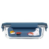 欣美雅 保鲜盒保温包 高硼硅玻璃材质耐高低温不串味微波 时尚简约 大长无分隔1040ml