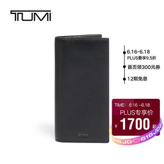 TUMI 途明 NASSAU SLG系列男士/中性商务旅行高端时尚皮革钱包01262143DS 黑色