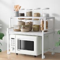 厨房微波炉置物架多层台面调料收纳架橱柜储物架厨房用品家用大全 AC双层组合