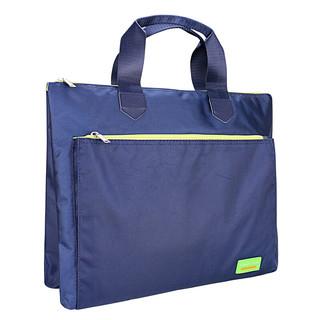 Ttianse 天色 时尚商务公文包;资料袋;手提拉链文件包;财务公文袋;A4学生文件袋拉链多层;风琴包文件包 9102款 蓝色