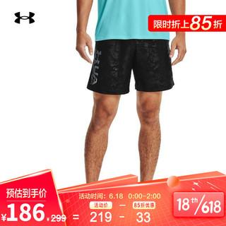 UNDER ARMOUR 安德玛 官方UA Emboss男子训练运动梭织短裤1361432 黑色001 L