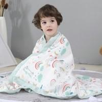 AWH 儿童纯棉纱布浴巾