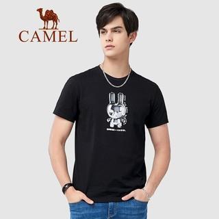 CAMEL 骆驼 XBB487143 男士印花短袖T恤