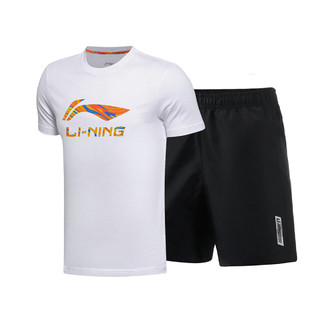 LI-NING 李宁 夏季男士舒适吸汗透气健身跑步运动套装