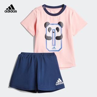 adidas 阿迪达斯 官网adidas 婴童装夏季训练短袖运动套装FM9767 FM9768