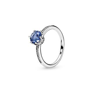 PANDORA 潘多拉 蓝色宝石闪耀皇冠戒指925银198289NSWB优雅
