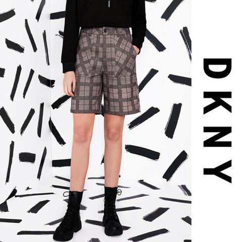 DKNY 唐可娜儿经典格纹女式休闲西装短裤Checked Shorts