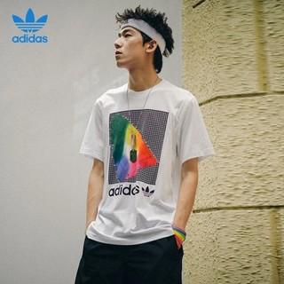 adidas 阿迪达斯 三叶草短袖男女同款印花舒适透气纯棉休闲运动T恤EI6216