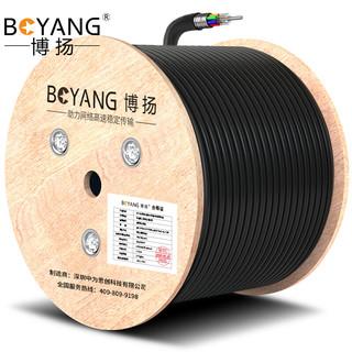 BOYANG 博扬 BY-GYTS-8B1.3 铠装8芯单模室外光缆 GYTS层绞式室外架空/管道光纤线 100米 可定制长度