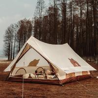 MOBI GARDEN 牧高笛 MOBIGARDEN) Line Friends联名款 户外露营涤纶帐篷纪元150 NX21561002 布朗熊米白