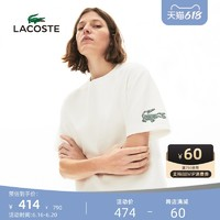 LACOSTE 拉科斯特 法国鳄鱼女装夏季时尚宽松休闲印花圆领短袖T恤女|TF5633