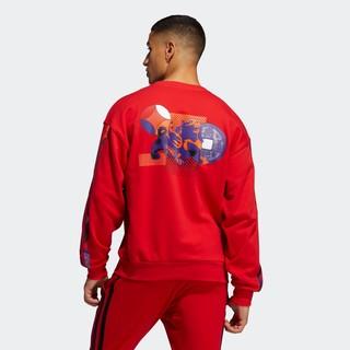 adidas 阿迪达斯 官网adidas MIC GFX CREW男装篮球运动卫衣GU9537 GU9538