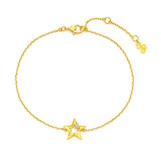 CHOW TAI FOOK 周大福 17916宸系列五角星22K金钻石手链