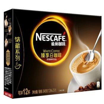 Nestlé 雀巢 Nestle)咖啡 金牌馆藏  臻享白咖啡 速溶 冲调饮品 29gX12条 许光汉同款