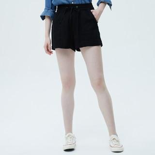 Gap 盖璞 女装亚麻系带短裤786588 2021夏季新款女士通勤休闲裤薄