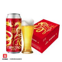 TSINGTAO 青岛啤酒 龙凤呈祥喜庆装 ≥4度 500ml*12罐