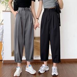 胖妹妹夏装新款2021大码女装休闲西装裤直筒阔腿女裤子宽松显瘦潮