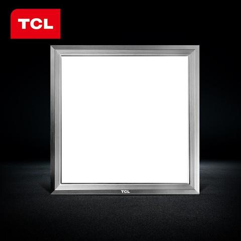 TCL 照明厨卫灯 led集成吊顶天花板铝扣厨房卫生间嵌入式 高亮版-银边16瓦-30*30