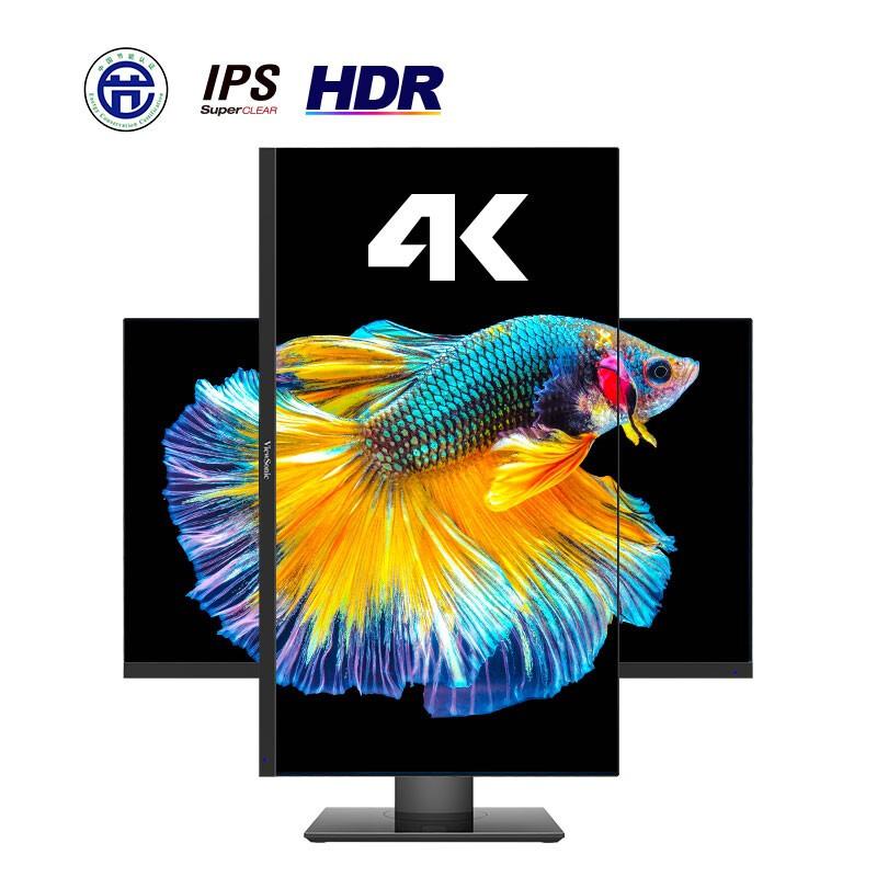 PLUS会员 : ViewSonic 优派 VX2831-4K-HD 28英寸IPS显示器(4K、HDR10、100%sRGB)