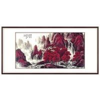 弘舍 李可染国画|原作版画《万山红遍》成品尺寸150x80cm 宣纸 1964年 典雅紅褐